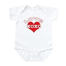 Collegiate Love Valentine Infant Bodysuit