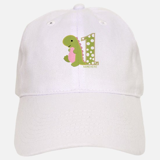 Customized First Birthday Green Dinosaur Baseball Baseball Cap