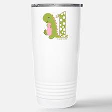Customized First Birthday Green Dinosaur Travel Mug