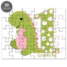 Customized First Birthday Green Dinosaur Puzzle