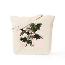 Vintage Christmas Holly Tote Bag