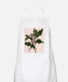Vintage Christmas Holly Apron