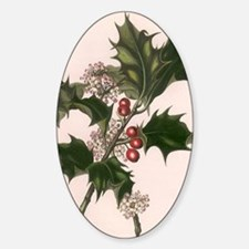 Vintage Christmas Holly Decal