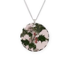 Vintage Christmas Holly Necklace