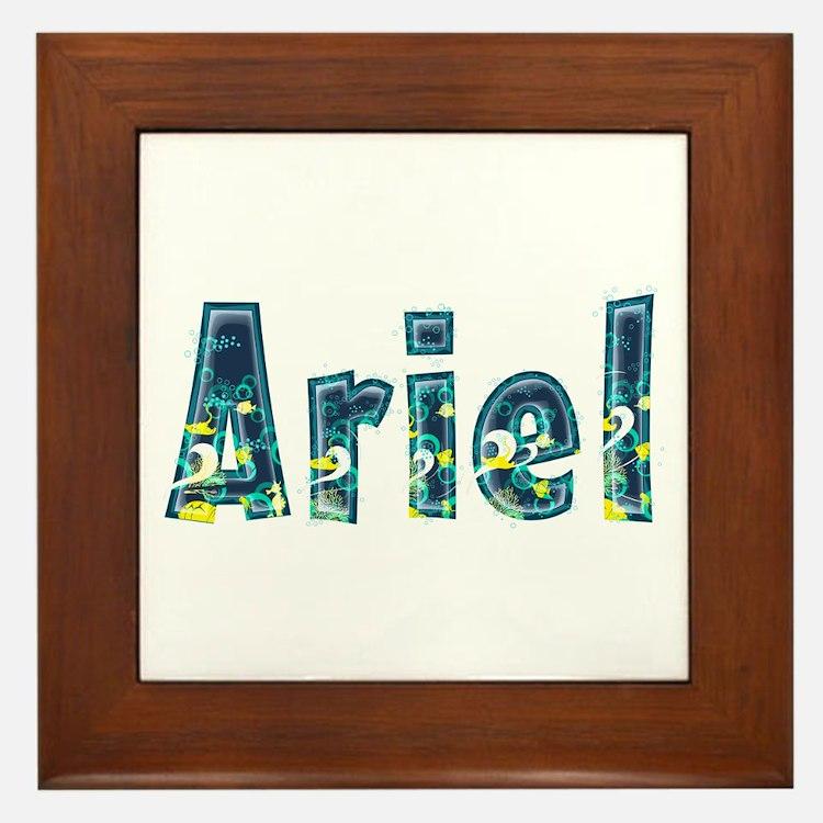 Ariel Under Sea Framed Tile