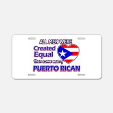 Puerto Rican Wife Designs Aluminum License Plate