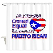 Puerto Rican Wife Designs Shower Curtain