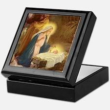 Vintage Christmas Nativity Keepsake Box