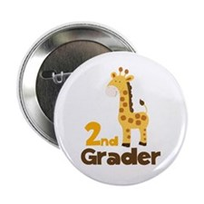 "2nd Grader giraffe 2.25"" Button"