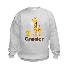 2nd Grader giraffe Sweatshirt