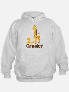 2nd Grader giraffe Hoodie