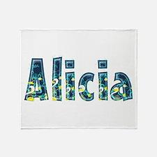 Alicia Under Sea Throw Blanket