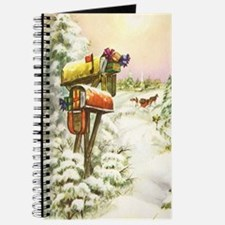 Vintage Christmas Mailboxes Journal