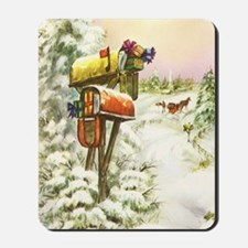 Vintage Christmas Mailboxes Mousepad