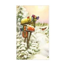 Vintage Christmas Mailboxes Decal