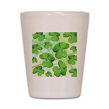 Shamrock Clover St Patricks Day Shot Glass