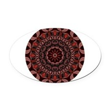 Chocolate Raspberries Oval Car Magnet