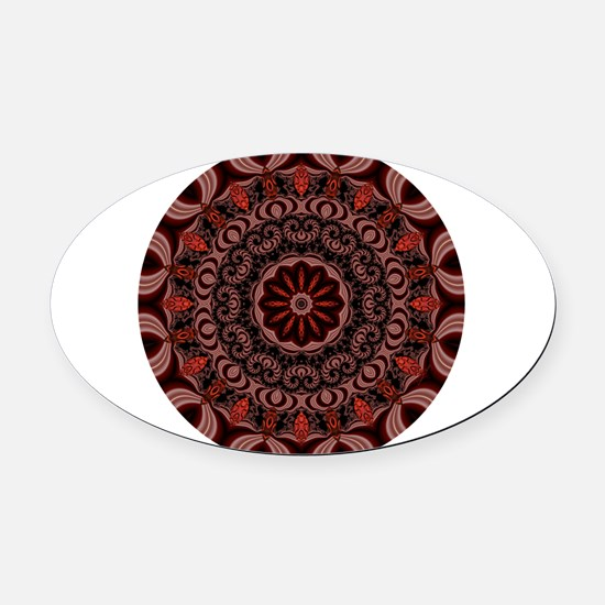 Chocolate Raspberries Oval Car Magnet