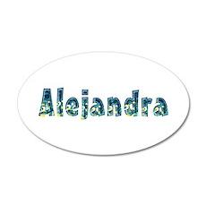 Alejandra Under Sea 20x12 Oval Wall Decal