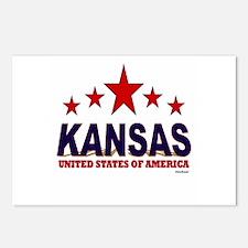 Kansas U.S.A. Postcards (Package of 8)
