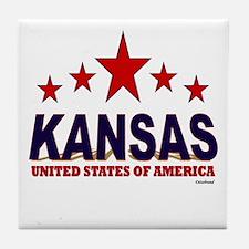 Kansas U.S.A. Tile Coaster