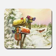 Vintage Christmas Mailboxes Mousepad