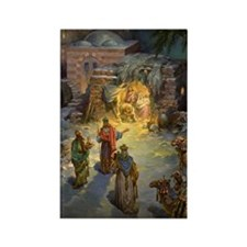 Vintage Christmas Nativity Rectangle Magnet