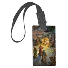 Vintage Christmas Nativity Luggage Tag