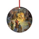 Nativity Round Ornaments