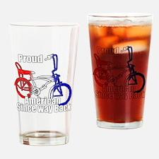 Proud American old school Drinking Glass