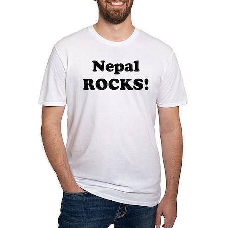 Nepal Rocks! Fitted T-Shirt