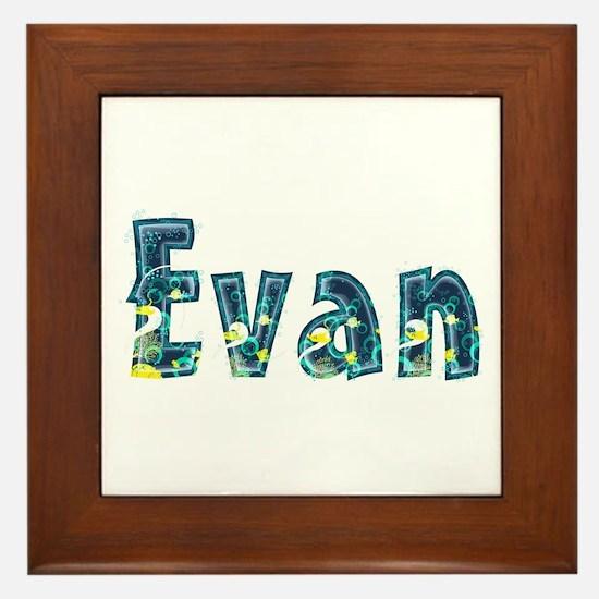 Evan Under Sea Framed Tile