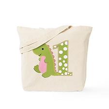 First Birthday Dino Tote Bag