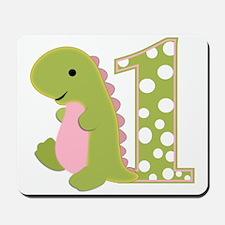 First Birthday Dino Mousepad
