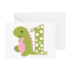 First Birthday Dino Greeting Card
