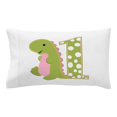 First Birthday Dino Pillow Case