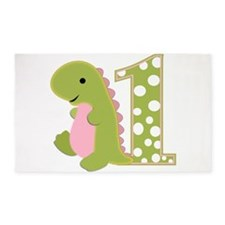 First Birthday Dino 3'x5' Area Rug