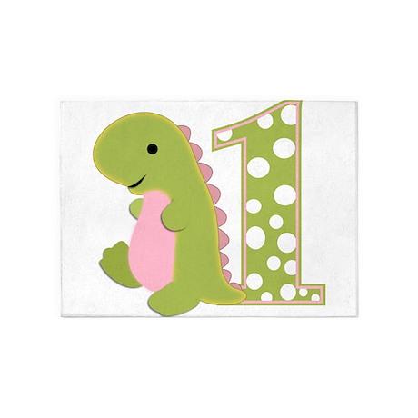 First Birthday Dino 5'x7'Area Rug