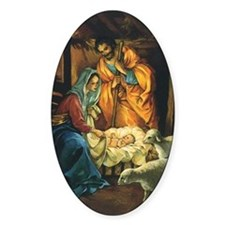 Vintage Christmas Nativity Decal