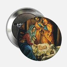 "Vintage Christmas Nativity 2.25"" Button"