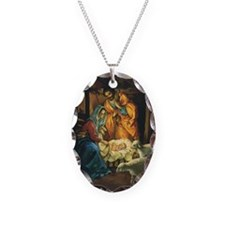 Vintage Christmas Nativity Necklace