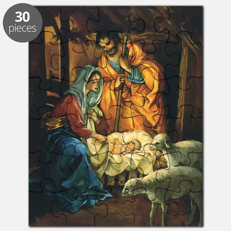 Vintage Christmas Nativity Puzzle