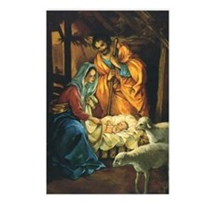 Vintage Christmas Nativit Postcards (Package of 8)