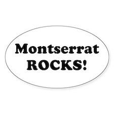 Montserrat Rocks! Oval Decal