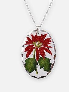Vintage Christmas Poinsettia Necklace