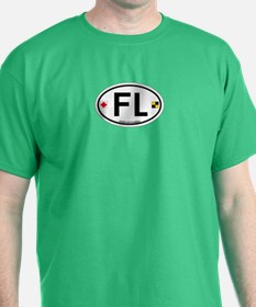 Florida - Oval Design. T-Shirt