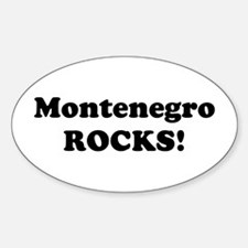 Montenegro Rocks! Oval Decal