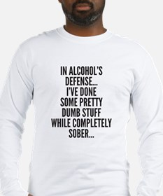 In Alcohols Defense Long Sleeve T-Shirt