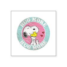 """Unique Snoopy dance Square Sticker 3"""" x 3"""""""