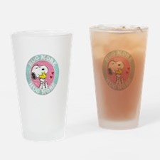 Cute Peanuts valentines day Drinking Glass